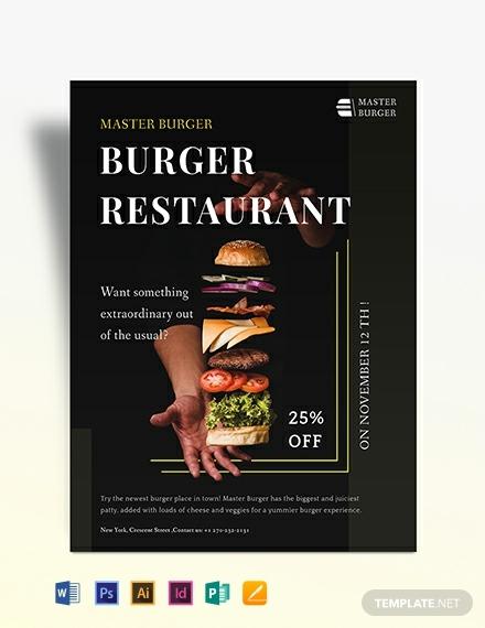 burger restaurant flyer template 440x570 1