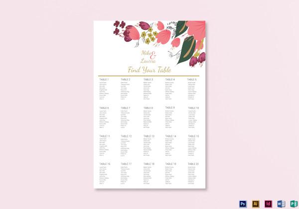 burgundy-floral-wedding-seating-chart