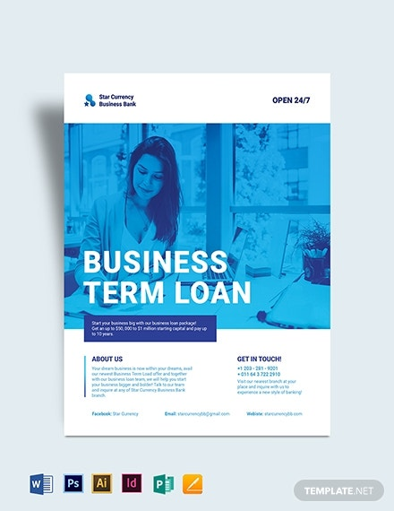 business banking flyer template 1