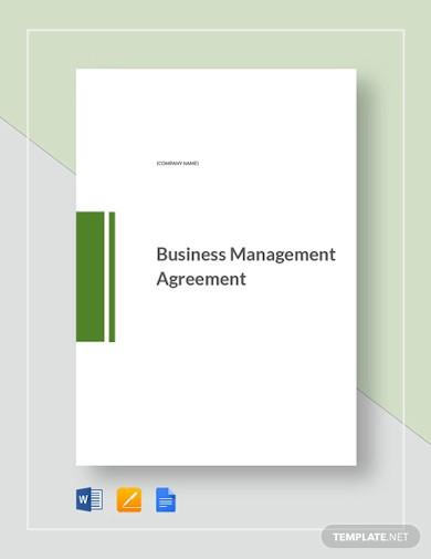 business management agreement template1