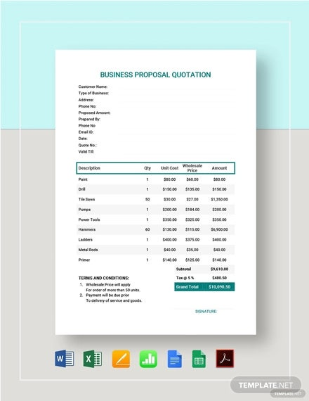 business proposal quotation template2
