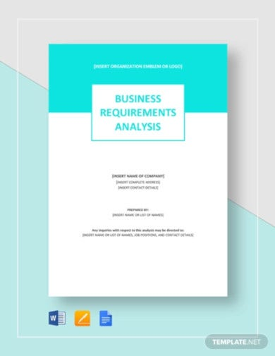 business requirements analysis template