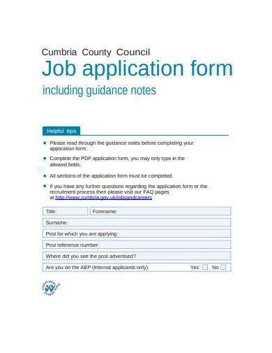 ccc job application form