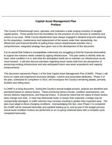 capital asset management plan