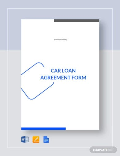 car loan agreement form template2