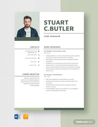 care manager resume template1
