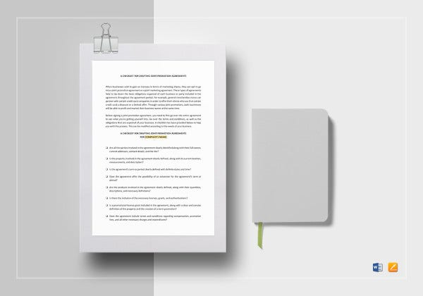 checklist-drafting-joint-promotion-agreements-template