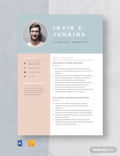 clinical-analyst-resume-template