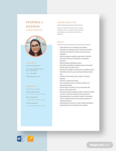 clinical-assistant-resume-template