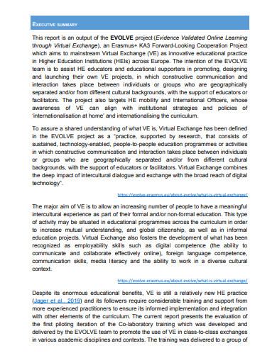 co laboratory training evaluation report