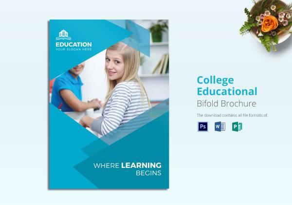 college educational brochure