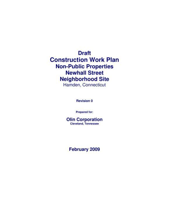 construction work plan draft