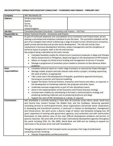 consultant job description example