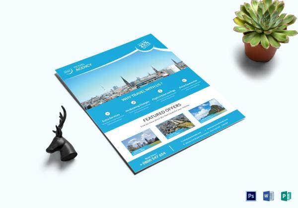 corporate travel flyer template