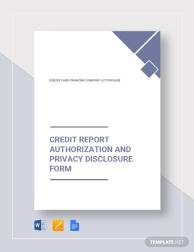 credit report authorization form template1