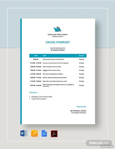 cruise-itinerary-template
