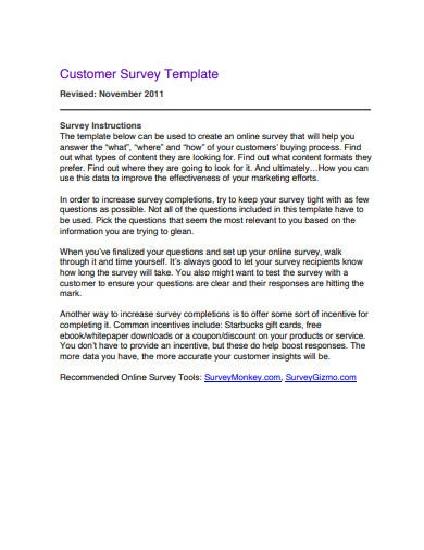 customer survey template