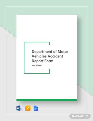 dmv accident report form template