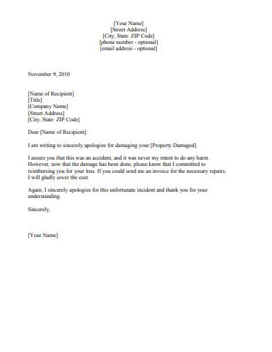 damaged-apology-letter