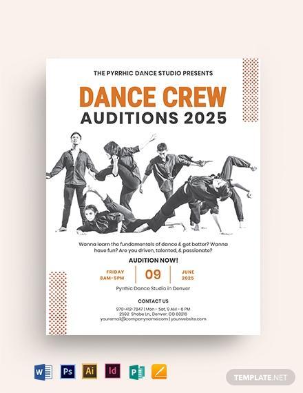 dance crew audition flyer 1