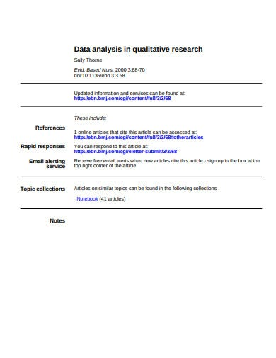 data analysis research template