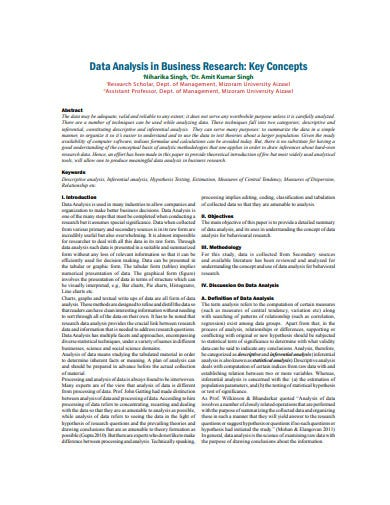 data analysis in business research