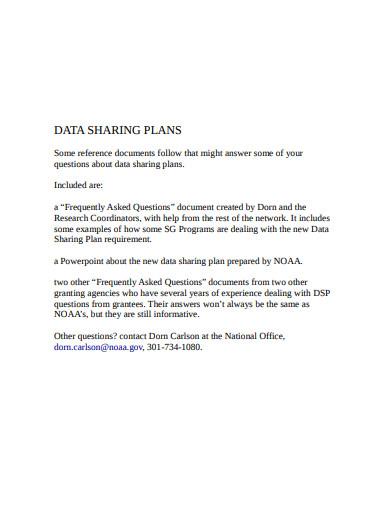 data sharing plan