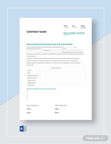 delivery note template1