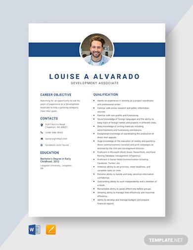 7  associate resume templates in word