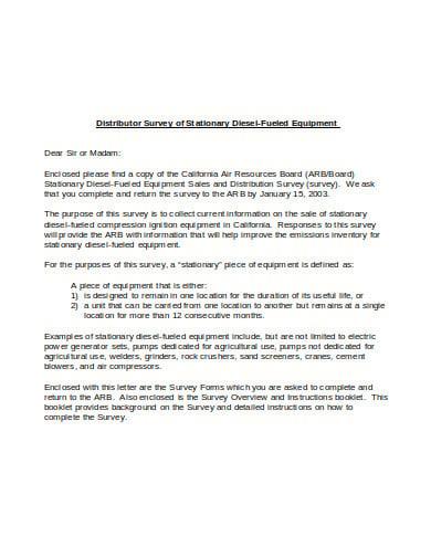 distributor survey sales letter template