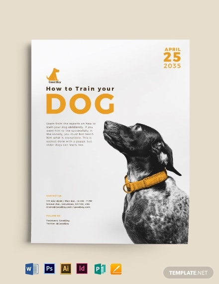 dog service flyer template
