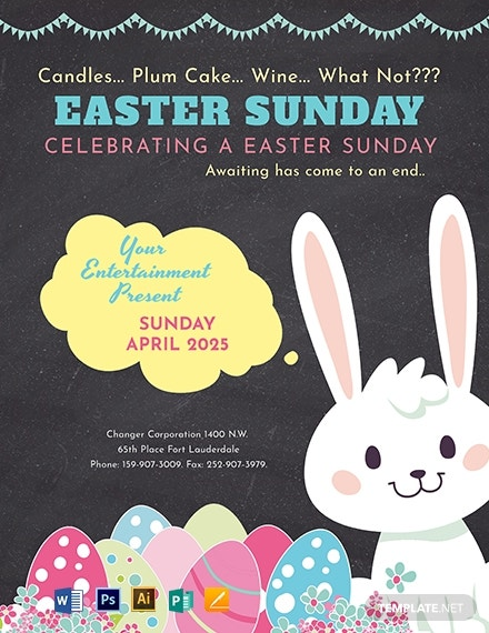 download free printable easter sunday flyer template