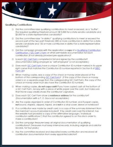 election grant application checklist template