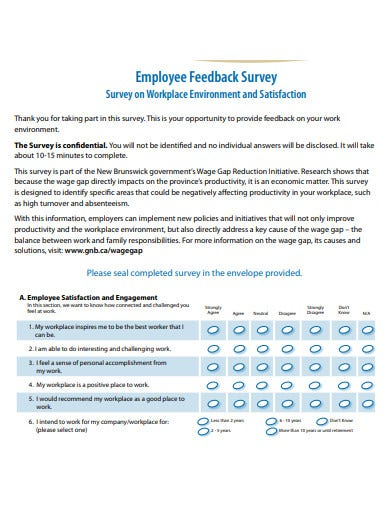 employee feedback survey template