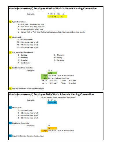 7+ Employee Work Schedule Templates in Google Docs ...