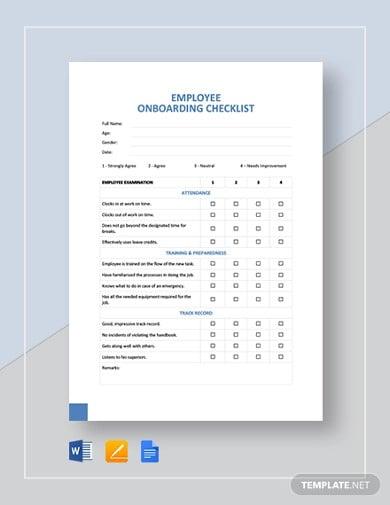employee onboarding checklist template
