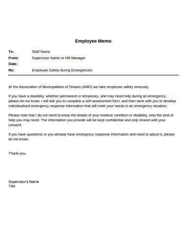 employee memo example