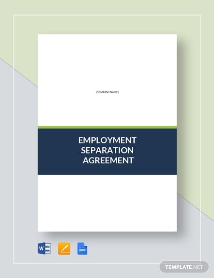 employment separation agreement 2