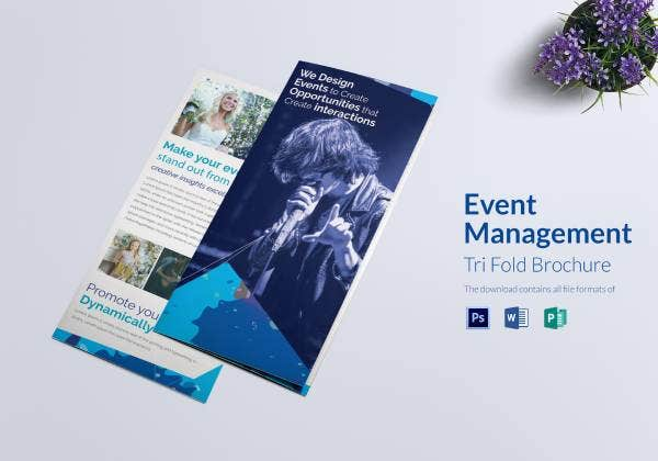 eventmanagement triifoldbrochure