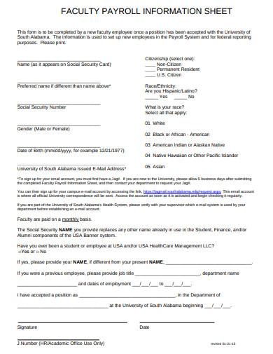 faculty-payroll-information-sheet