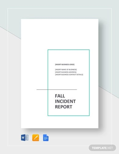 fall incident report template1
