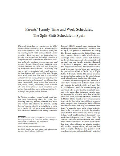family time schedule template