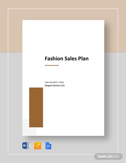 fashion sales plan