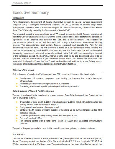 feasibility report example