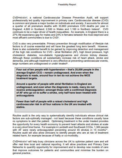 feasibility report sample