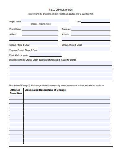 field change order