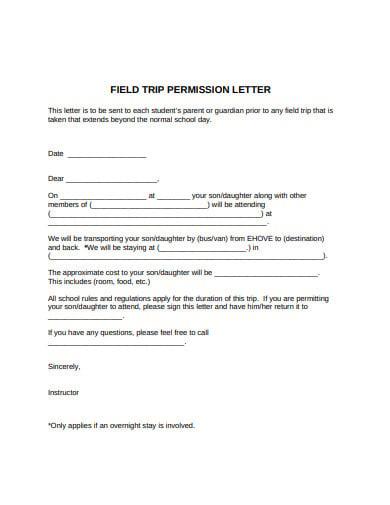 18+ Permission Letter Templates - Google Docs, Word, Pages, PDF