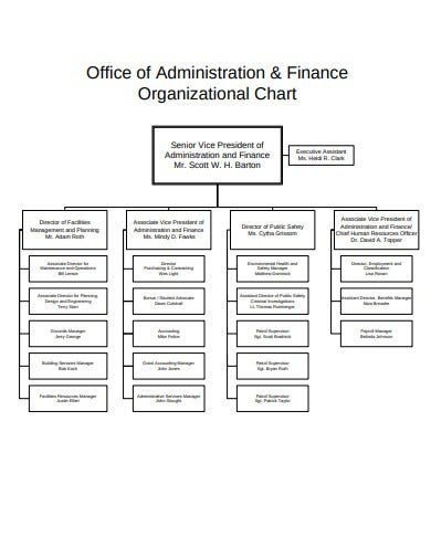 finance office organizational chart in pdf