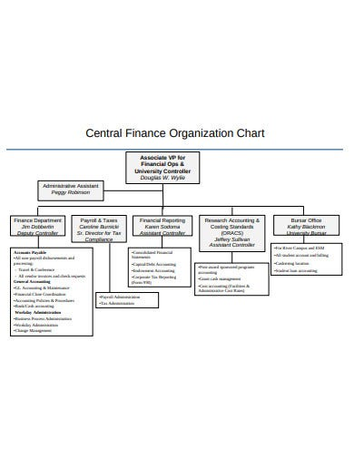 finance organizational chart example