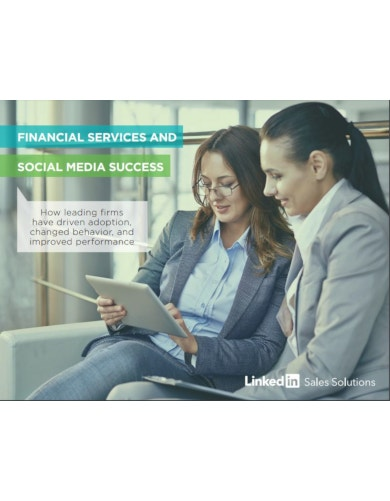 financial services and social media success